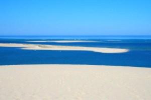 Le banc d'Arguin, depuis la dune du Pilat