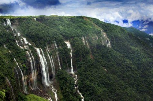 seven sisters falls, meghalaya