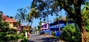 A colourful line up of modern Goan houses
