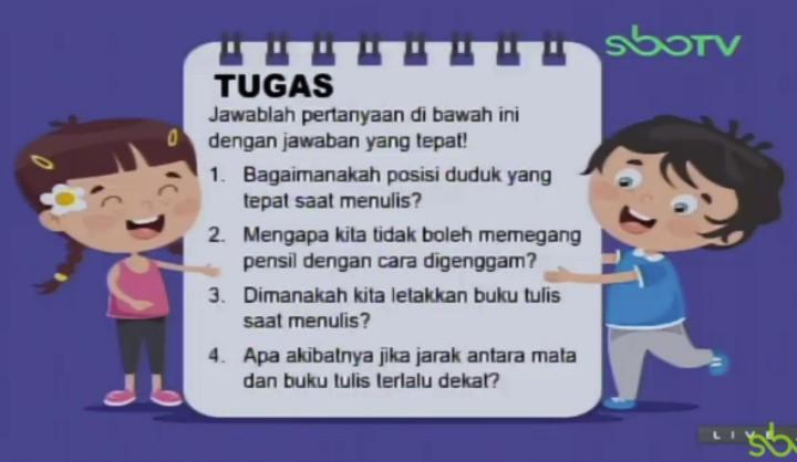 Soal dan Jawaban SBO TV 25 Agustus SD Kelas 1