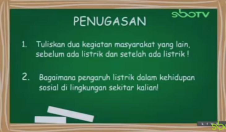 Soal dan Jawaban SBO TV 25 Agustus SD Kelas 6