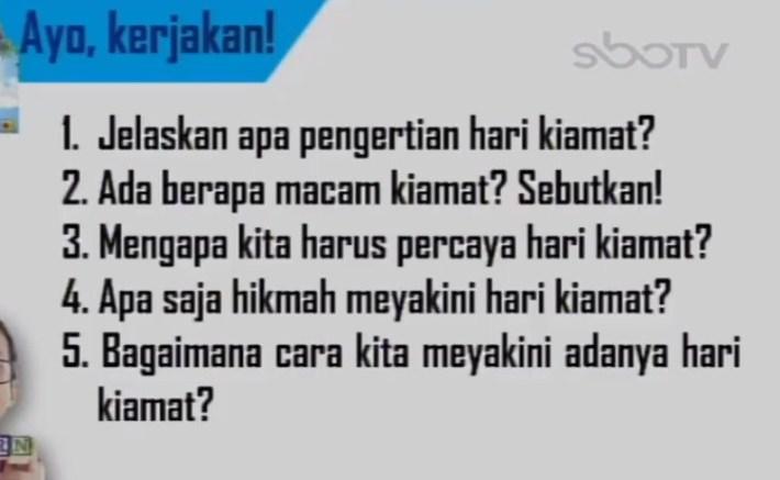 Soal dan Jawaban SBO TV 7 September SD Kelas 6