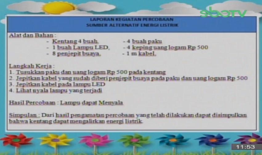 Soal dan Jawaban SBO TV 20 Oktober SD Kelas 6