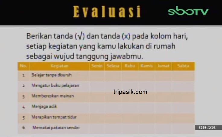 Soal dan Jawaban SBO TV 12 Oktober SD Kelas 2