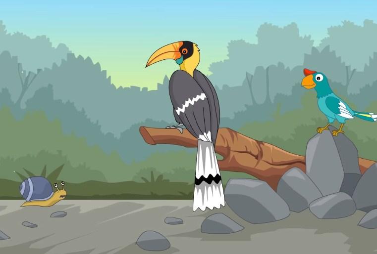 Ceritakan kembali secara singkat kisah Burung Taun dan Burung Ngulngul!