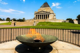 Flammes du Shrine of Remembrance, Melbourne