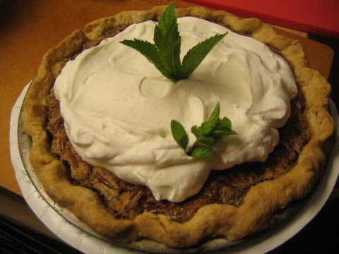 Bourbon Pecan Pie with Julep Whipped Cream. Photo by Jessica Bard.