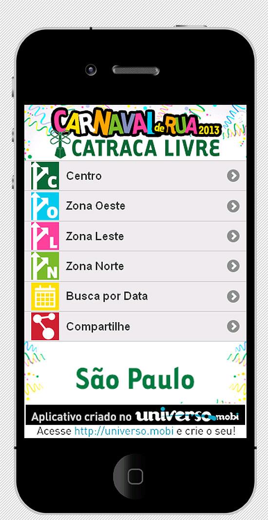 App Blocos de Rua