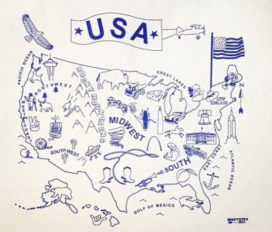 Desenho mapa dos Estados Unidos