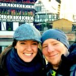 Sarah and Tom aka TripGourmets, enjoying a day out at the Christmas markets in Strasbourg