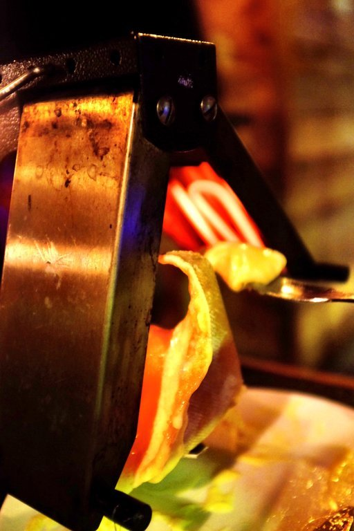 Raclette Device melting the cheese