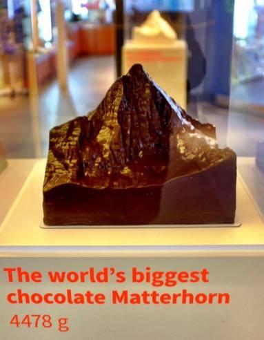 Chocolate that looks like the Matterhorn in Zermatt