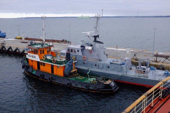 Boats Coastguard Tallinn at the Seaplane Museum in Tallinn