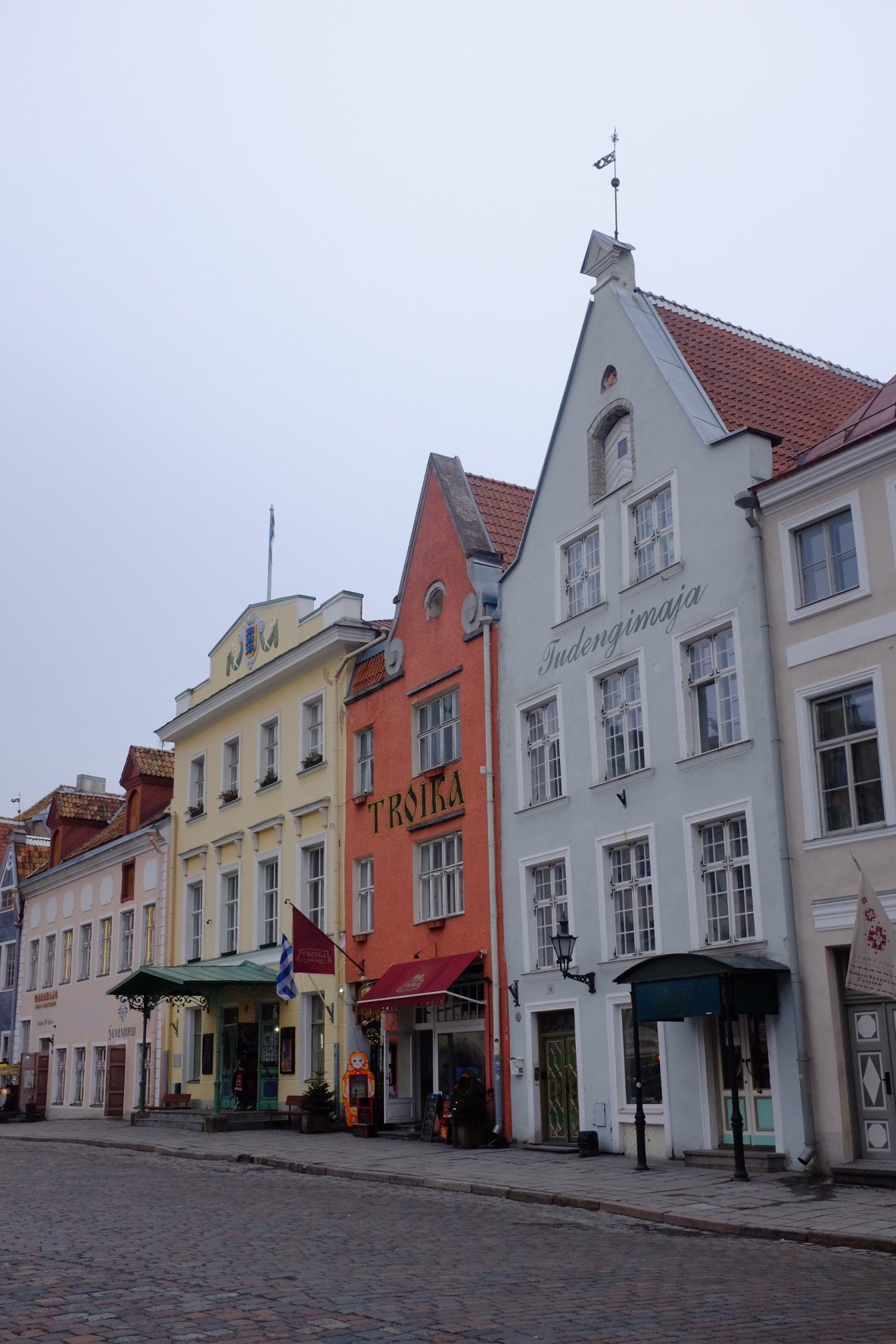 Buildings on Town hall place in Tallinn