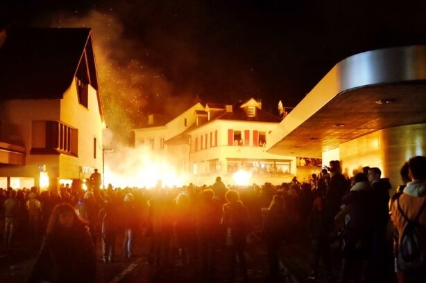 Liestal looks like it's on fire