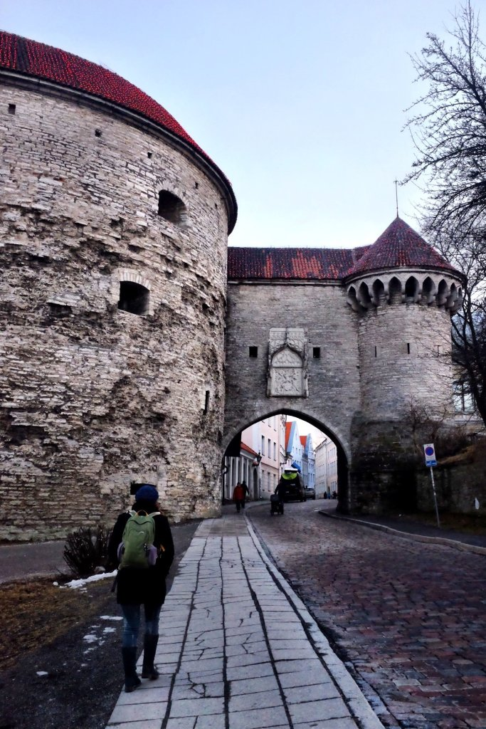 Fat Margeret gate as seen from outside of the walls of Tallinn