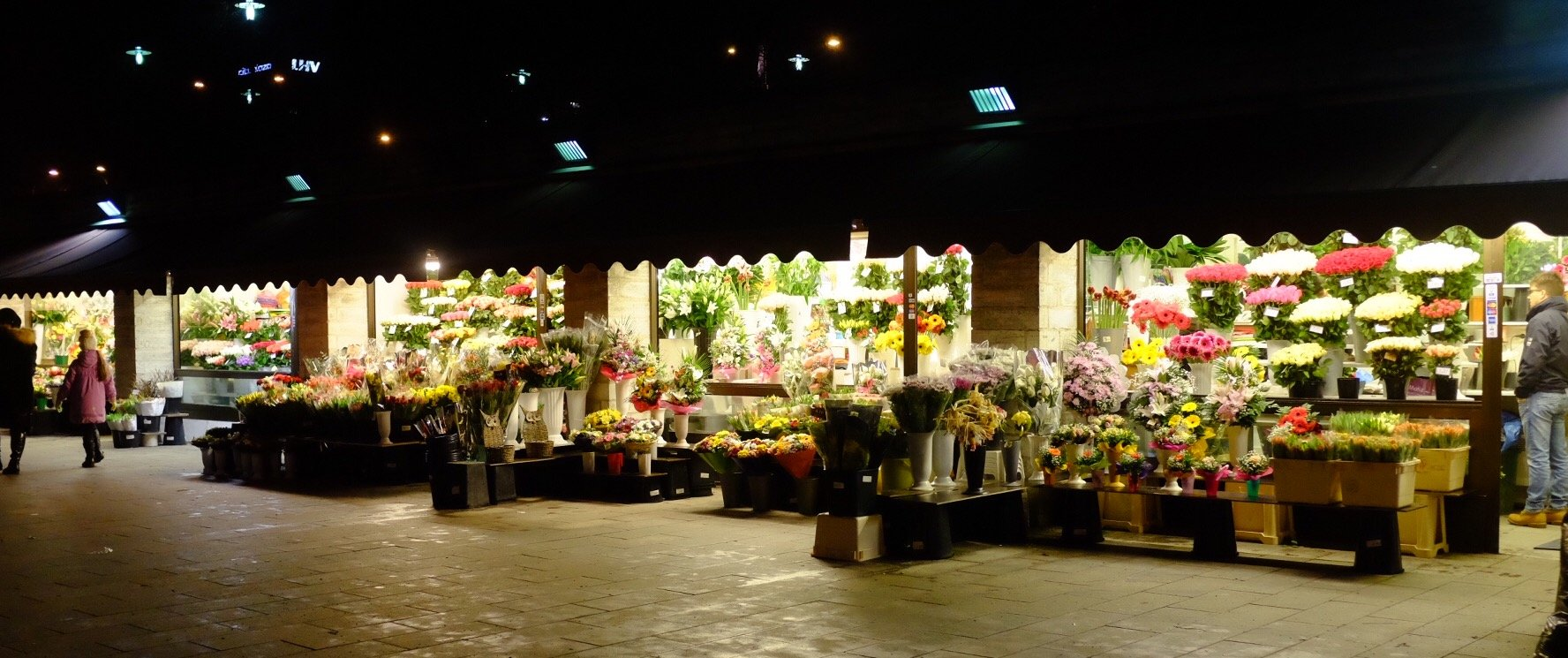 Flowershops in front of the gates of Tallinn