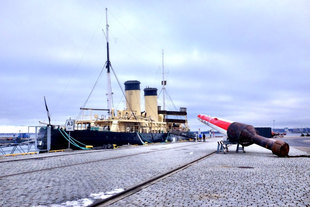 Tallinn city break Icebreaker with boye exhibited at the Seaplane Museum in Tallinn
