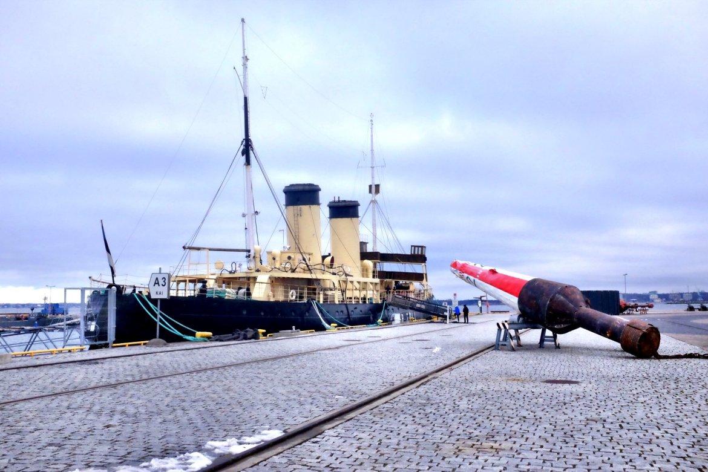 Weekend in Tallinn Icebreaker with boye exhibited at the Seaplane Museum in Tallinn