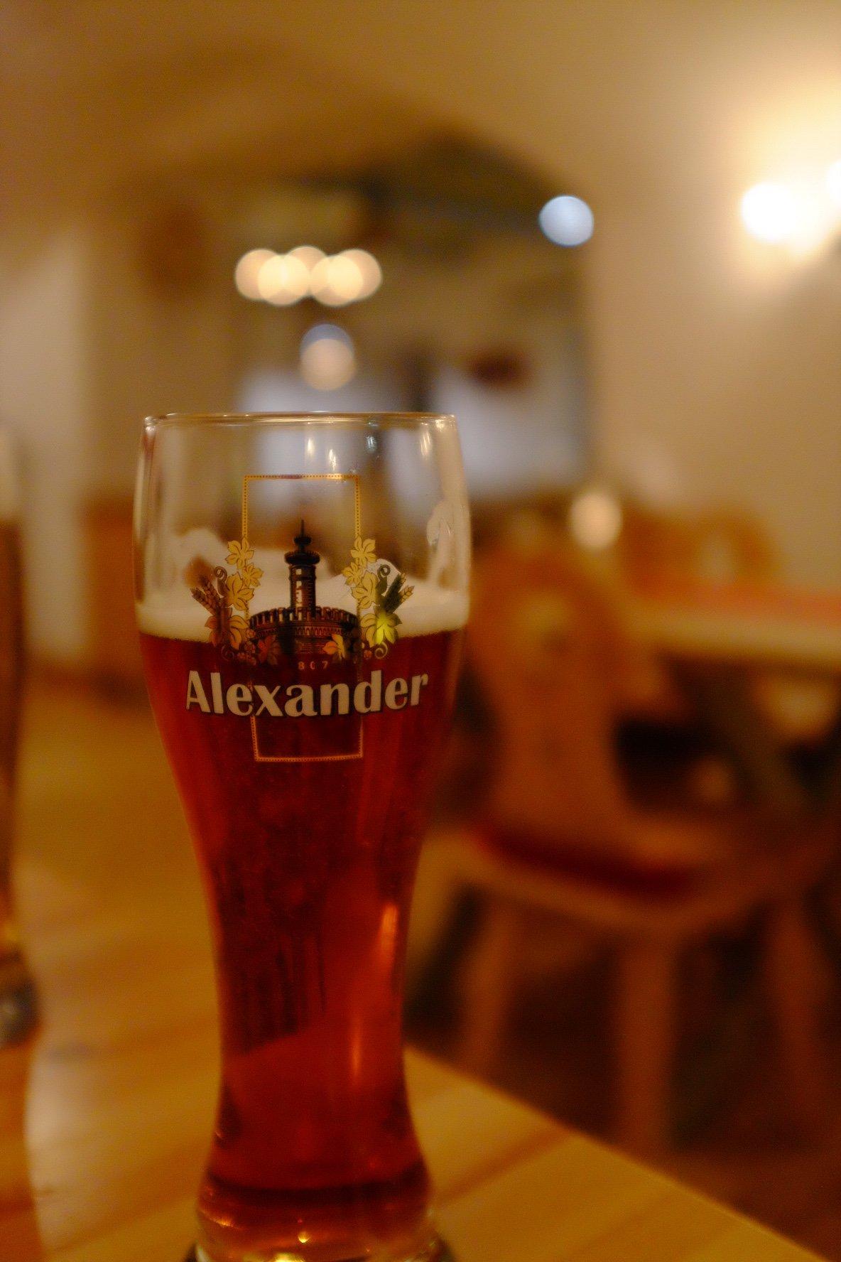 Honey beer in the Kuldse Notsu in Tallinn