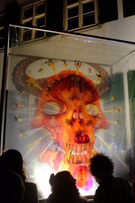 Layered Skull Lantern