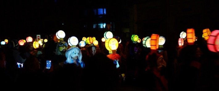 Morgestraich lanterns at the Basler Fasnacht