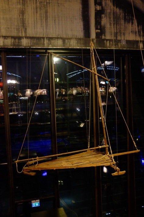 Old Iceskate boat at the Seaplane Museum in Tallinn