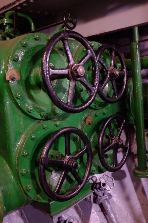 Random cranks in the Icebreaker who's exhibited at the Seaplane Museum in Tallinn