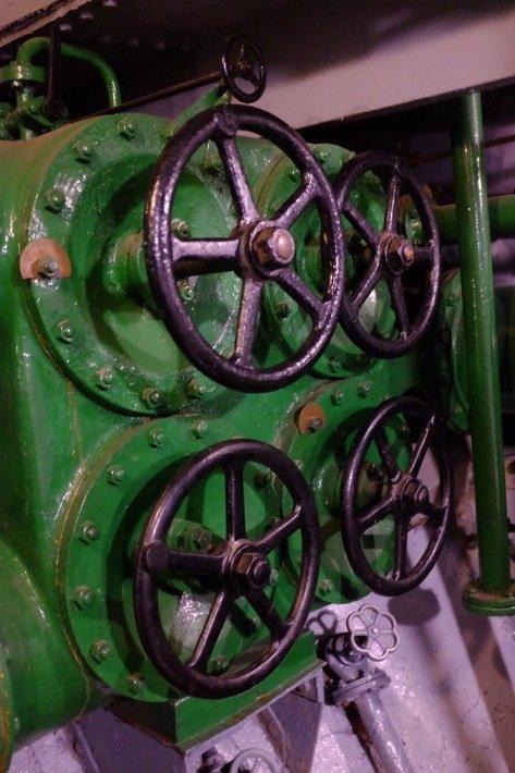 Random cranks in the Icebreaker who's exhibited at the Seaplane Museum in Tallinn