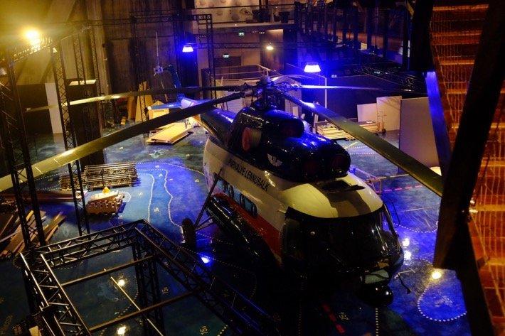 Weekend in Tallinn Rescue Chopper exhibited at the Seaplane Museum in Tallinn