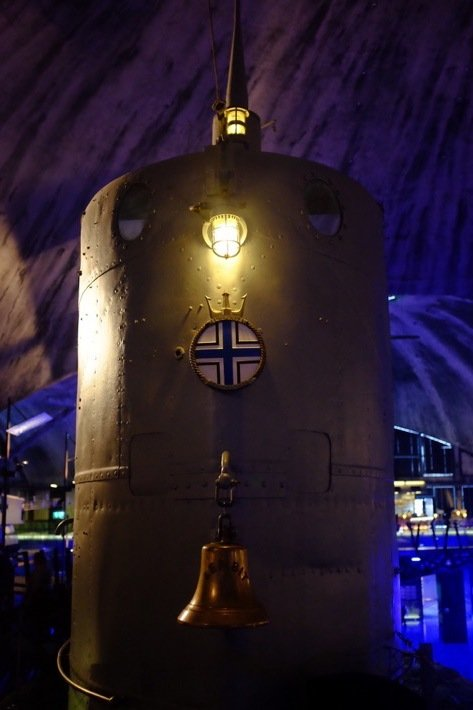 Top of Submarine at the Seaplane Harbour Museum in Tallinn