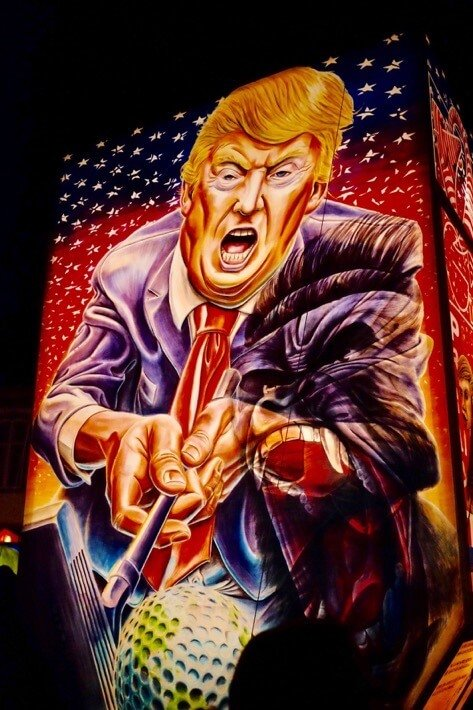 Trump Lantern at the Basler Fasnacht