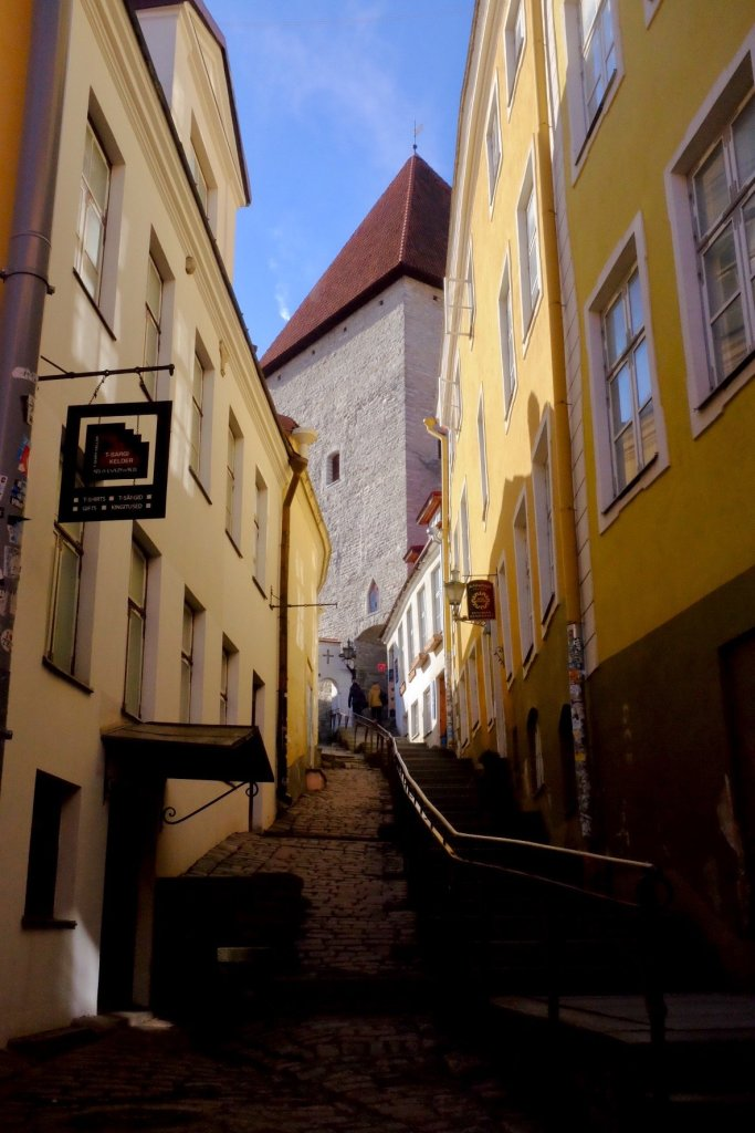 Up the hill in Tallinn