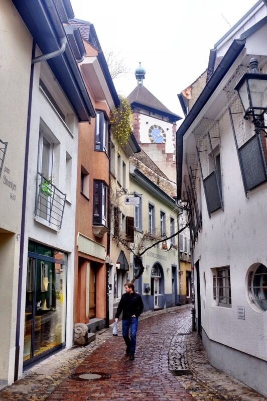 Another narrow alley in Freiburg