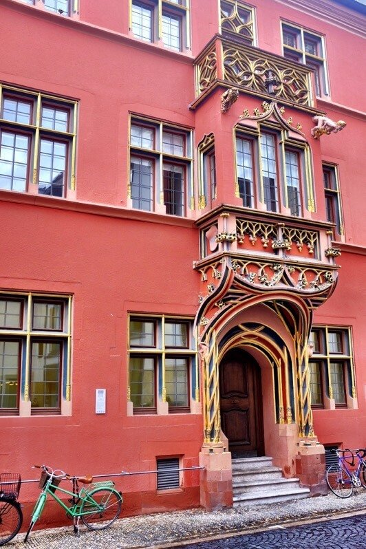 Bay window with ornaments in Freiburg