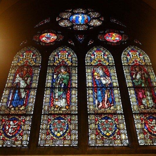 Church windows in the Munster in Freiburg