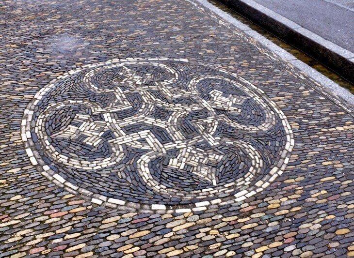 Mosaic ornament Freiburg