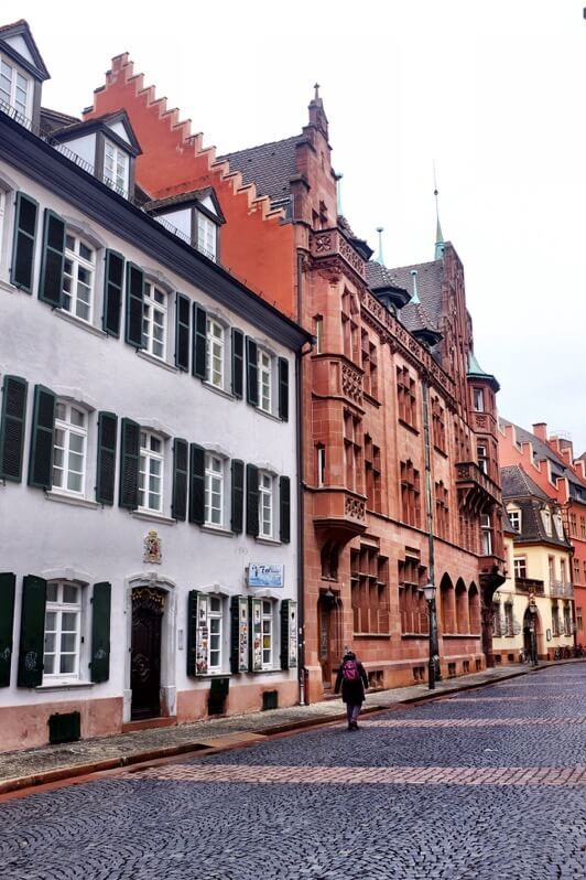 Pretty street in Freiburg