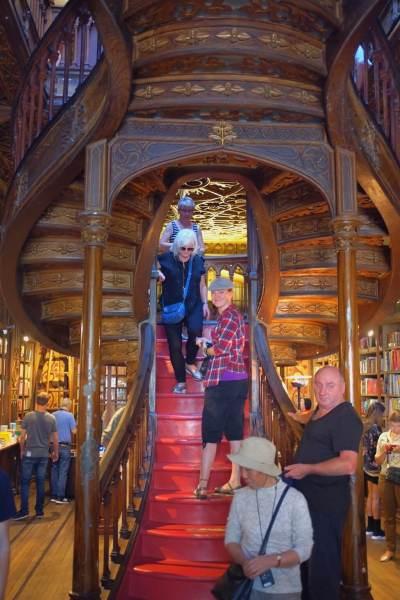 Three days in Porto. Livraria Lello main stairs