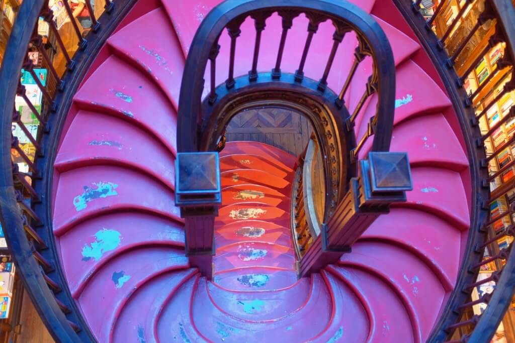 Three days in Porto. Livraria Lello stairs from above