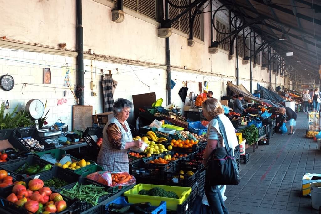 Foodie highlights of Porto, vegetables, seller, market