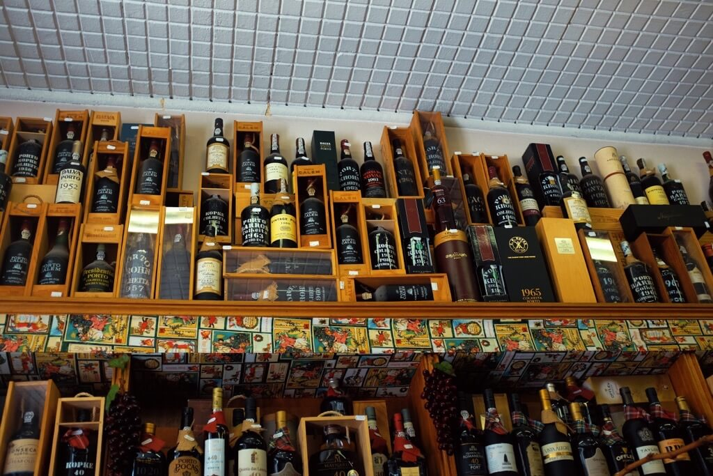 Foodie highlights of Porto wines in deli shop