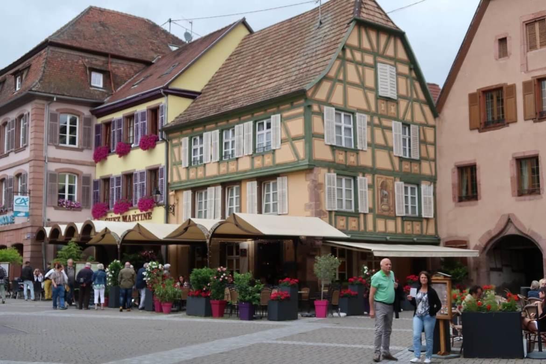 Alsace wine route restaurant Ribeauville
