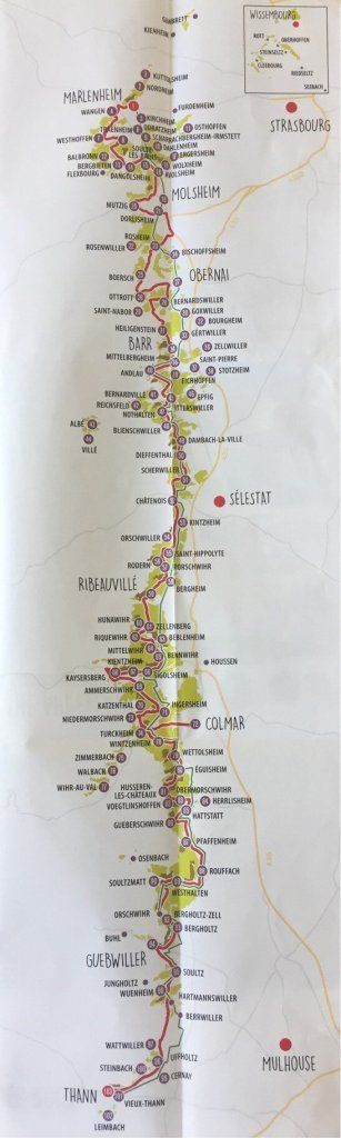 Alsace wine route map