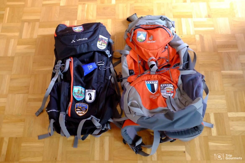 Full-time travel Empty backpacks deuter vaude