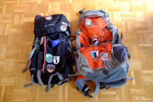 Empty backpacks deuter vaude