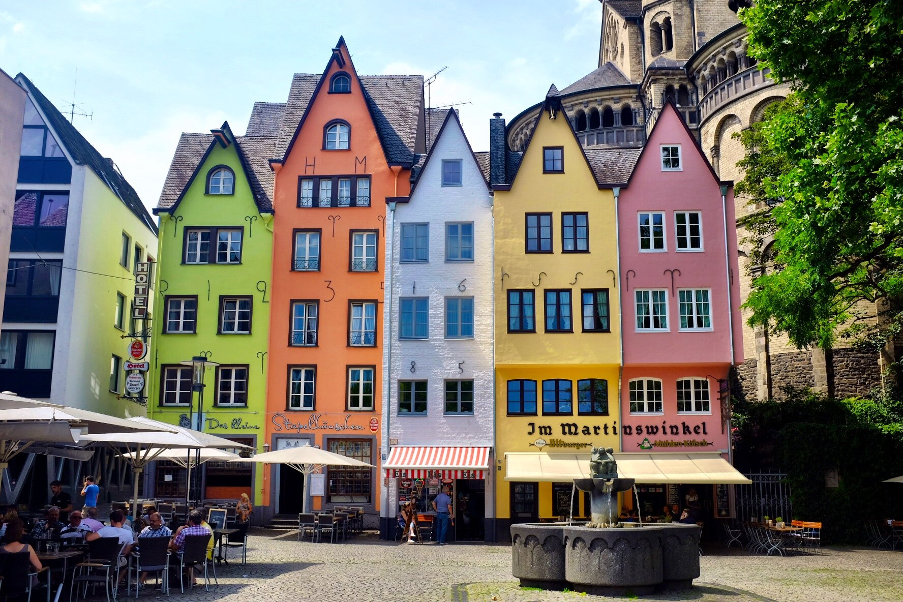 colourful houses Fischmarkt Köln Cologne Gallery Trip Gourmets