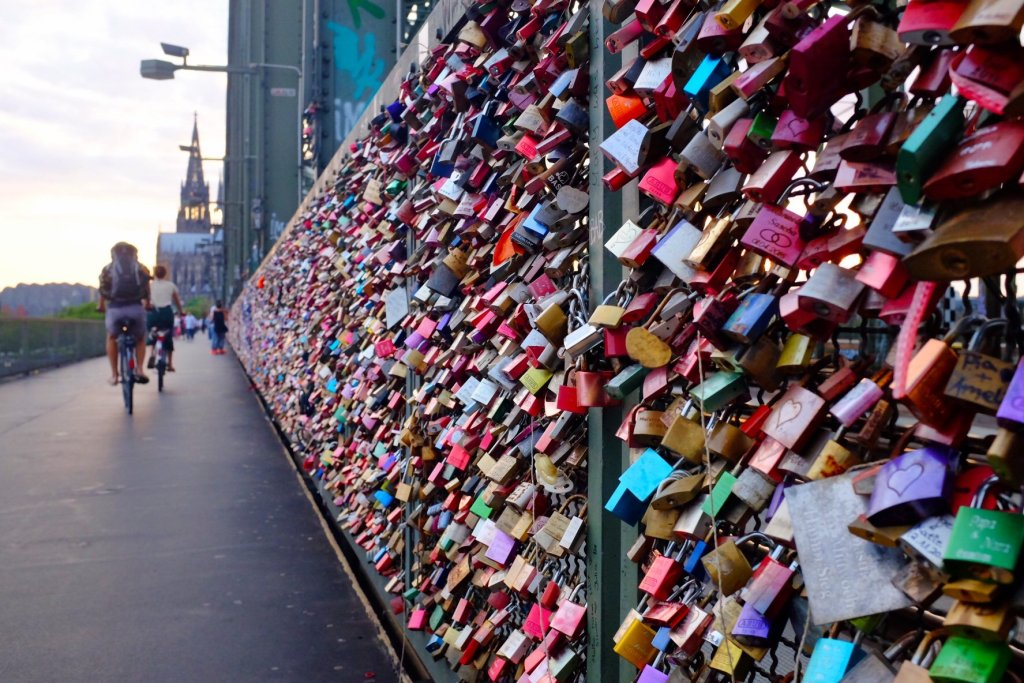 things to do in Cologne in one day love locks bridge
