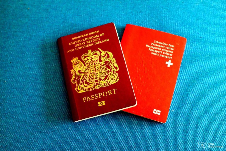 Full-time travel, Swiss and British passport