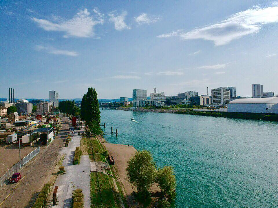 Rhein river shot with DJI spark drone best cameras for travel photography